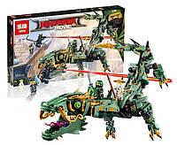 """Конструктор Ninjago Movie Lepin 06051 (Lego 70612) """"Механический Дракон Зеленого Ниндзя"""" 592 дет"""