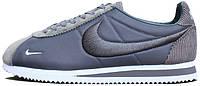 "Мужские кроссовки Nike Classic Cortez Sp ""Dark Blue/Grey/White"" (Найк Кортес) cерые"