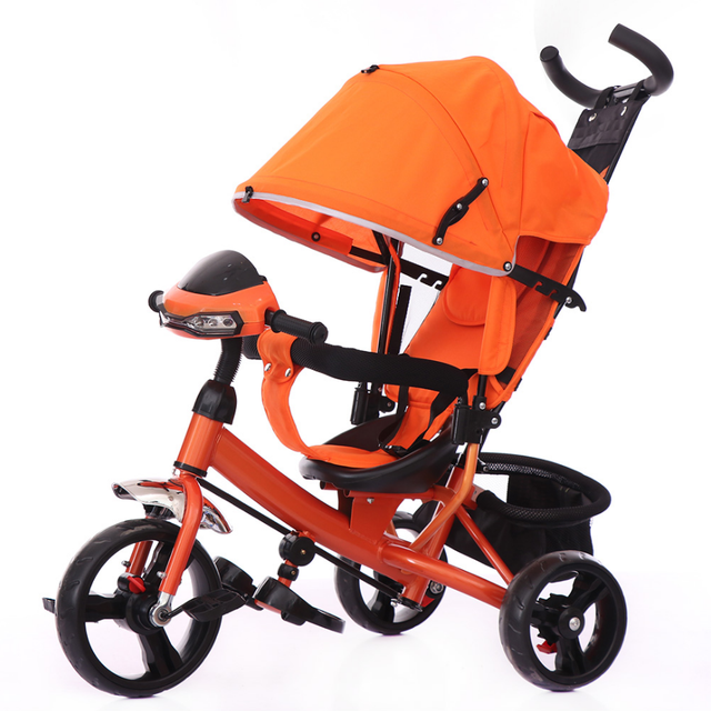 Трехколесный велосипед на EVA колесах T-347 Оранжевый