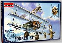 Сборная модель Roden Германский истребитель-триплан Fokker FI (RN017)
