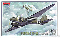 Сборная модель Roden Военно-транспортный самолет Douglas C-47 Skytrain (RN308)