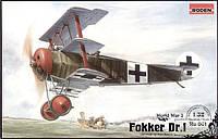 Сборная модель Roden Истребитель Fokker DrI (RN601)