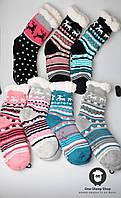 Женские зимние носочки, термо носки, яркие носки на зиму, новогодние комнатные носки