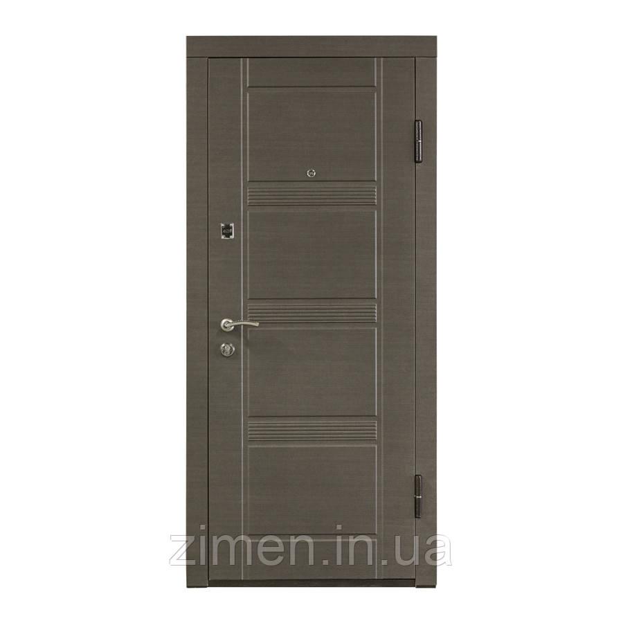 Входная дверь ПО-29 венге серый горизонтальный