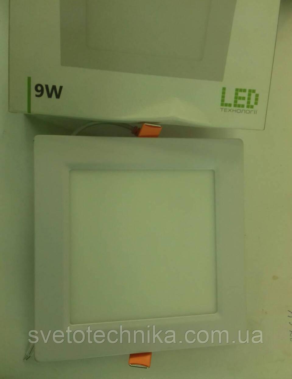 Светодиодная панель Feron AL511 9W 4000K (корпус-белый)