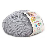 Alize, Baby Wool Светло серый 52