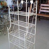 Этажерка высокая 50 см Бежевая, фото 1