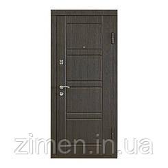 Входная дверь ПО-09 венге структурный/беленый дуб