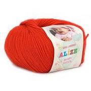 Alize, Baby Wool Червоний 56