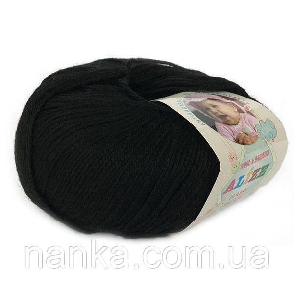 Alize, Baby Wool Черный 60