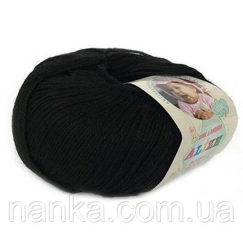 Alize, Baby Wool Черный 60, фото 2