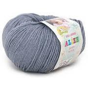 Alize, Baby Wool Темно сірий 119