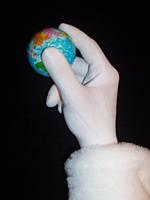 Перчатки БЕЛЫЕ, нейлоновые, вязаные. Длина 25 см