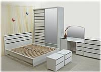 Спальня Прага белый глянец