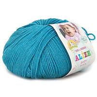 Alize, Baby Wool Темная бирюза 245