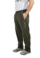 Мужские теплые трикотажные штаны с начесом цвет Хаки АКЦИЯ!!!