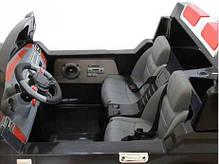 Детский Электромобиль Bambi Двухместный Джип Land Rover 205 черный на радиоуправлении, фото 3