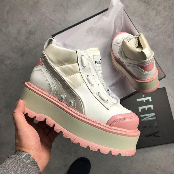 Ботинки в стиле Fenty Puma By Rihanna Zipped Pink женские -  Интернет-магазин «Reverie a5907fe8c42
