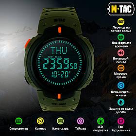 M-Tac часы тактические с компасом олива