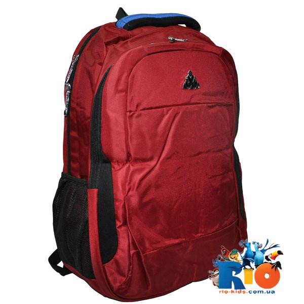 Школьный рюкзак 50x32 см, плащевка, для мальчиков: красный, коричневый, синий, сиреневый(мин.заказ - 1 ед.)