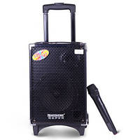 Акустика с микрофоном и акумулятором Q8 (usb/bluetooth)