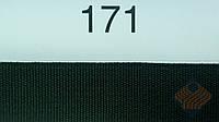 Тесьма тканая черно-белая 18мм. черная