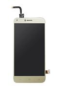 Оригинальный дисплей (модуль) + тачскрин (сенсор) для Bravis A506 Crystal (золотой цвет), фото 1
