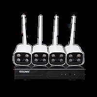 Комплект видеонаблюдения ESCAM WNK403 4CH 720P Wireless NVR KITS