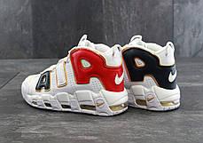 Мужские кроссовки Nike Air More Uptempo разноцветные топ реплика, фото 2