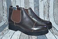 Женские кожаные зимние ботинки Челси. Натуральная кожа