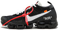 Мужские кроссовки OFF-WHITE x Nike Air VaporMax Найк Вапор Макс черные, фото 1