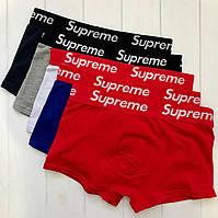 Мужское нижнее белье Supreme - трусы мужские боксеры, шорты  (хлопок,6 цветов)