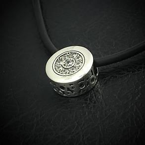 Серебряная подвеска с фианитами, фото 2
