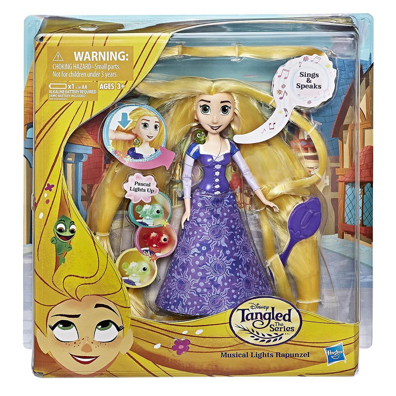 Кукла Рапунцель шарнирная,поющая, новые приключения Rapunzel