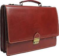 Мужской портфель из качественной натуральной кожи Rovicky AWR-2-1 коричневый