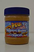 Арахисовая паста PEO`s Peanut Butter Crunchy 340 г , фото 1