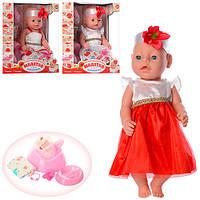 Кукла Беби Борн с аксессуарами в платье аналог