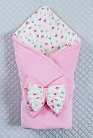 Красивый конверт-одеяло для девочки.