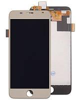 Дисплей (экран) для Prestigio MultiPhone PSP7501 Duo Grace R7 с сенсором (тачскрином) золотистый