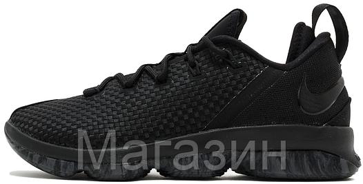 """Баскетбольные кроссовки Nike LeBron 14 Low """"Black"""" (Найк Леброн 14) черные"""