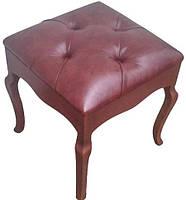 Пуф Сиена деревянный мягкое сиденье с каретной стяжкой Изготовим любого цвета и размера