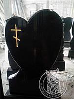 Сердце из черного гранита Выставка №2