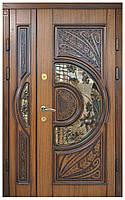 Елегантные двери для дома с ковкой и стеклом в наличи по доступной цене Стандарт модель 24