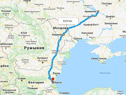 Украина, Кременчуг - Болгария, Бургас