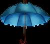 Мужской зонт ZEST  супер-автомат в черную клетку -