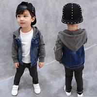 Очень стильная, тёплая, джинсовая куртка на мальчика на меху