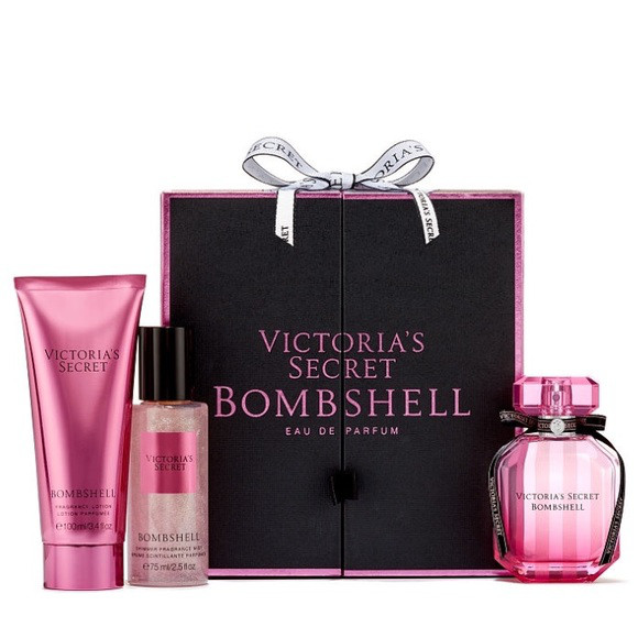 Набор Виктория Сикрет 3 в 1 Victoria's Secret Bombshell Signature Gift Set оригинал