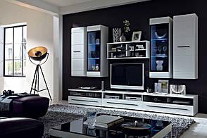 Стенка в гостиную FEVER Black Red White