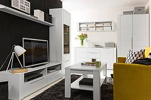 Стенка в гостиную DINARO Black Red White
