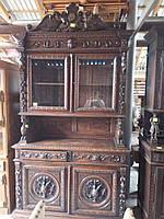 Буфет в охотничьем стиле, 1870г.(Франция), мебель из Европы, деревянная мебель для гостинной б/у